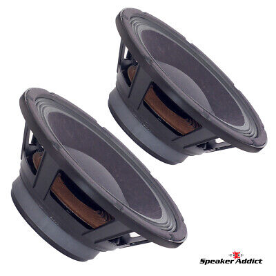 PAIR Peavey 10 inch 8ohm bass guitar speaker BAM-1038-MI Midbass Woofer Eminence for sale  Shipping to South Africa