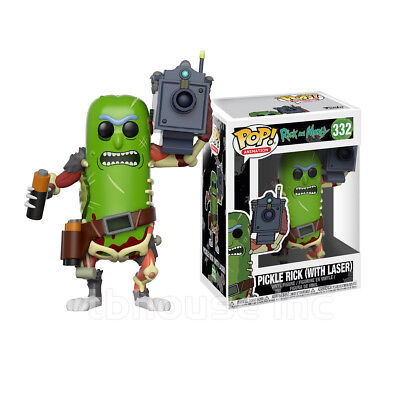 "4"" PICKLE RICK WITH LASER 332 figure POP ANIMATION vinyl toy AND MORTY gun FUNKO"