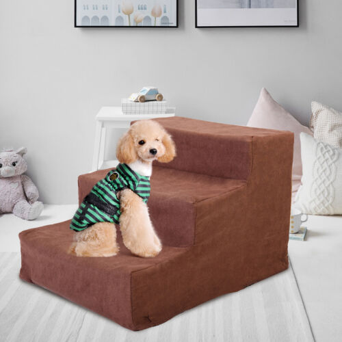 Dog Steps For High Bed 3 Steps Pet Stairs Small Dogs Cats Ramp Ladder