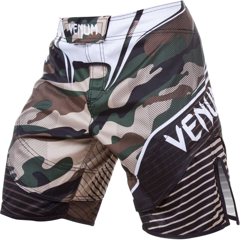 Venum Camo Hero 3-Way Vault MMA Fight Shorts - Green/Brown