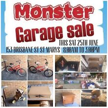 MONSTER GARAGE SALE SAT25th JUNE 153 Brisbane St ST MARYS 8-3pm St Marys Penrith Area Preview