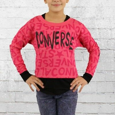 Converse Kinder Sweater All Over Girls cosmos pink Girly Top Pullover Sweatshirt