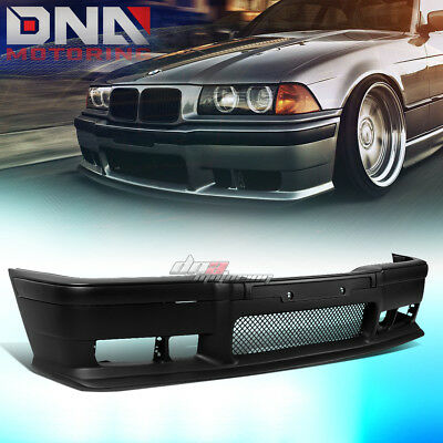 FOR 92-98 BMW E36 3SERIES 1PC M3 STYLE ABS FRONT BUMPER COVER BODY KIT+GRILLE