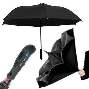 "Better Brella Reverse Open Wind-Proof Inverted Umbrella 41.5"" Large Double Layer"