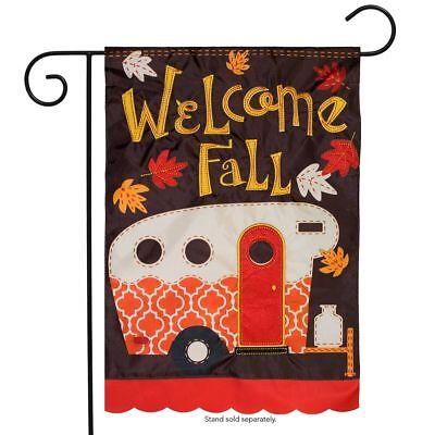 Briarwood Lane Fall Camper Applique Garden Flag Autumn Campi