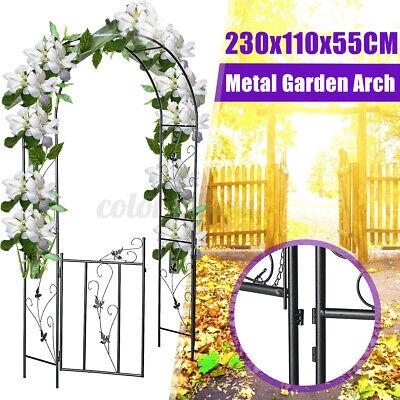 Metal Garden Arch Gate Wedding Plant Trellis Rose Climbing Archway Decor Patio