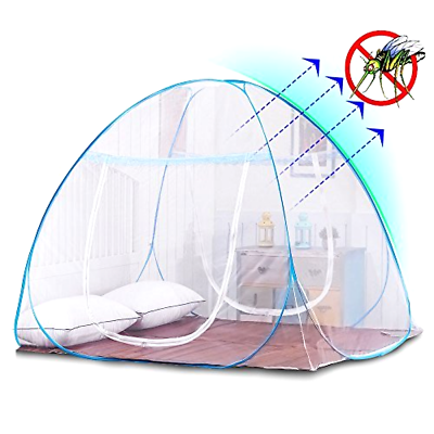 Folding Square Top Mosquito Net Home Camping Hiking Mesh Tent Net Insect Prevent