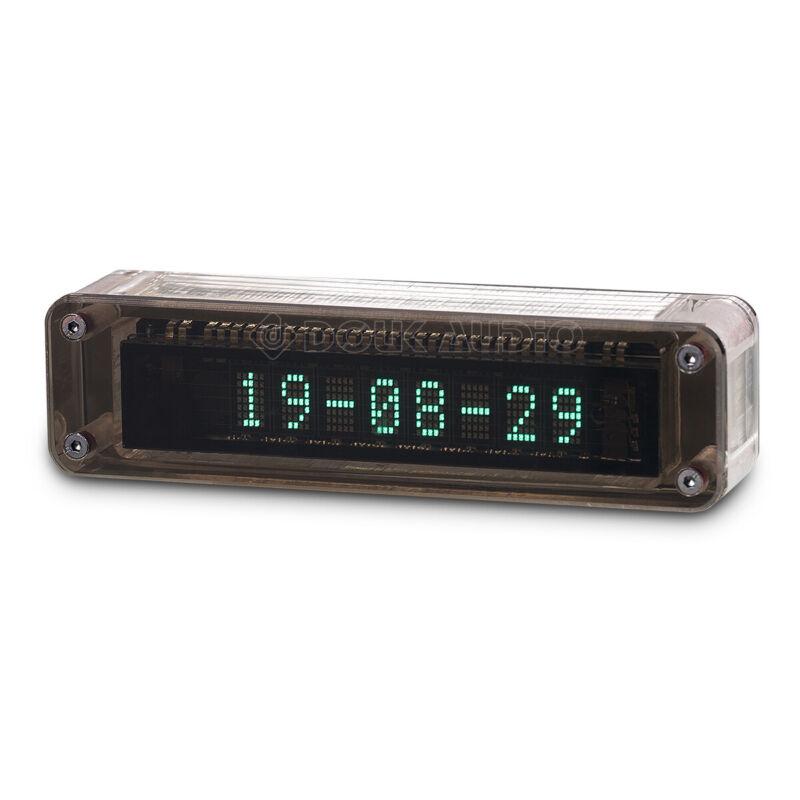 Douk Audio Mini VFD Clock Vacuum Fluorescent Display Retro Tube Desk Shelf Clock