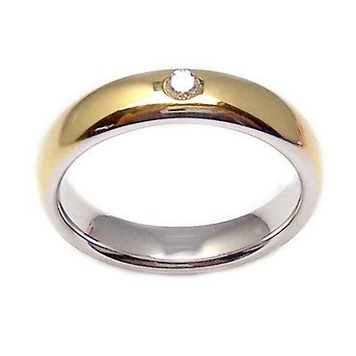 Bandas de Boda con Diamante Bicolor de Oro Blanco 18KT Anillo Boda...