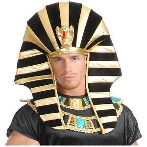 Egyptian Headpiece King Tut Pharaoh Sphinx Hat Costume Accessory Adult Halloween