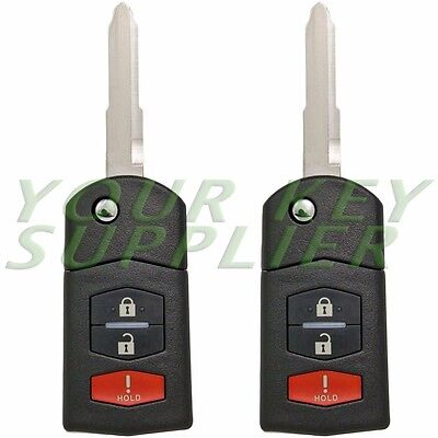 2 New Keyless Remote Flip Keys Replacement For KPU41788 Mazda 6 RX-8