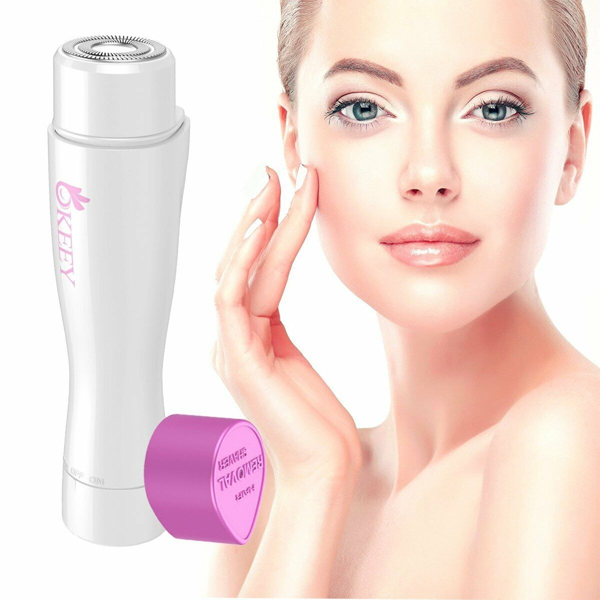 Damen Gesichts Haarentfernung elektrisch schmerzlose Epilierer Damenbart Haare