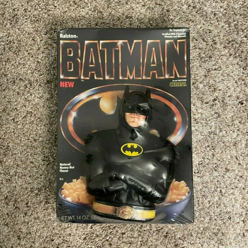 NEW SEALED 1989 BATMAN Ralston Cereal Box with Coin Bank