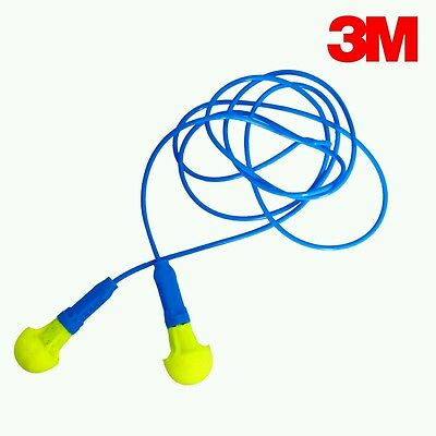 3m Push-ins Corded Earplugs For Hearing Protection Lot Of 15 Pairs