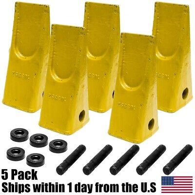 5pk Cat Style Backhoe Loader Bucket Dirt Dig Teeth Pins Retainers 1u3252 J250