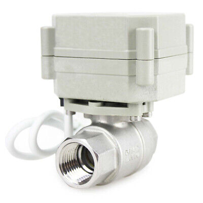 12 Stainless Steel Motorized Electric Ball Valve 12v 24v Adc 5 Wires Position