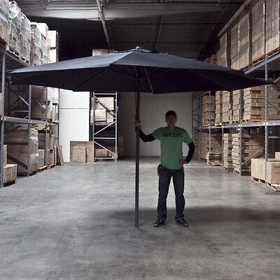Brand New 13' FEET Black Aluminum Outdoor Patio Umbrella Deck Gazebo Sun Shade