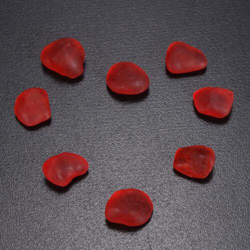 как выглядит 20 pieces red ruby-like sea beach glass lot bulk wholesale jewelry use фото