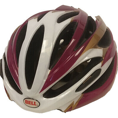 Bell Array Road Bicycle Cycling Helmet Fuchsia Gold Leopard Small S 51 55 cm Bell Road Bike Helmets