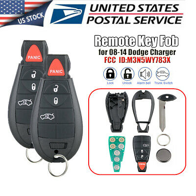 Dodge Keyless Entry Remote - 2x Keyless Entry Remote Start Fobik Key Fob for 08-14 Dodge Charger M3N5WY783X