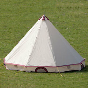 skandika comanche tente tipi indien camping 4 8 eprsonnes neuf ebay. Black Bedroom Furniture Sets. Home Design Ideas
