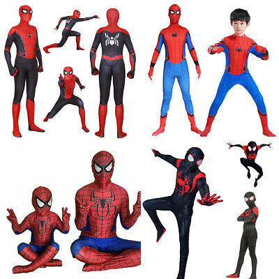 Spiderman Cosplay Overall Superheld Jungen Kinder Herren Erwachsene Kostüm Set (Jungen Superhelden Kostüme Set)