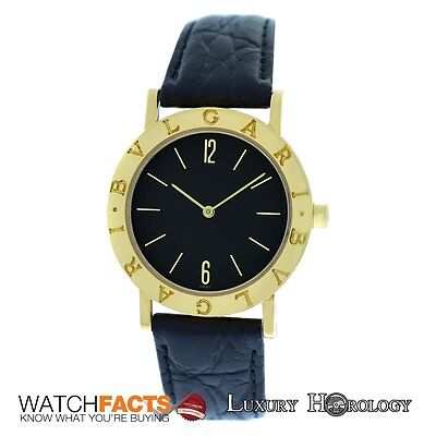 Authentic Unisex Bvlgari Bulgari BB 33 GL 18K Yellow Gold Quartz 33mm Watch