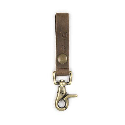 BRAND NEW RUSTICO SUPER LOOP KEYCHAIN BROWN LEATHER -Free Shipping!!