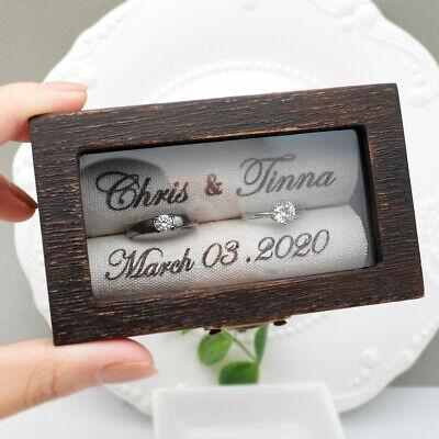 Custom Ring Bearer Box Personalised Wedding Ring Box Rustic Wedding Ring Holder