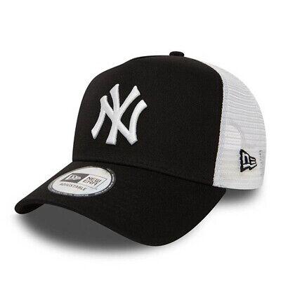 NEW ERA NEW YORK YANKEES TRUCKER CAP.9FORTY A FRAME CLEAN BLACK BASEBALL HAT S20