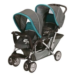 Graco-2013-DuoGlider-Double-Stroller-In-Dragonfly-New-Free-Shipping