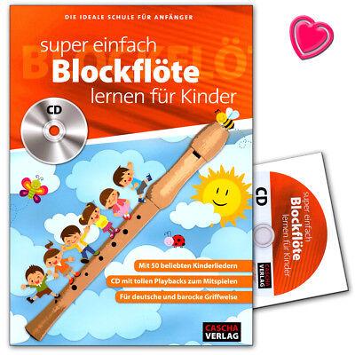 Super einfach Blockflöte lernen für Kinder - ideale Schule für Anfänger - HH1033