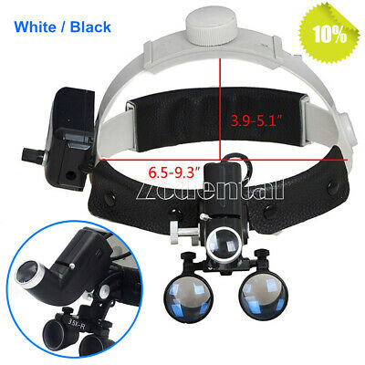 Dental 3.5x Surgical Medical Headband Binocular Loupes With Led Light 2 Colors