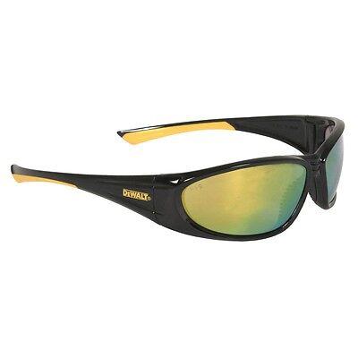 Dewalt Safety Glasses - Yellow Mirror Lens - Black Frame - Dpg98-yd