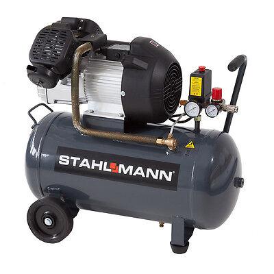 STAHLMANN 50 L Kolbenkompressor 2,2kW 10 bar kupfergewickelt Kompressor 50L