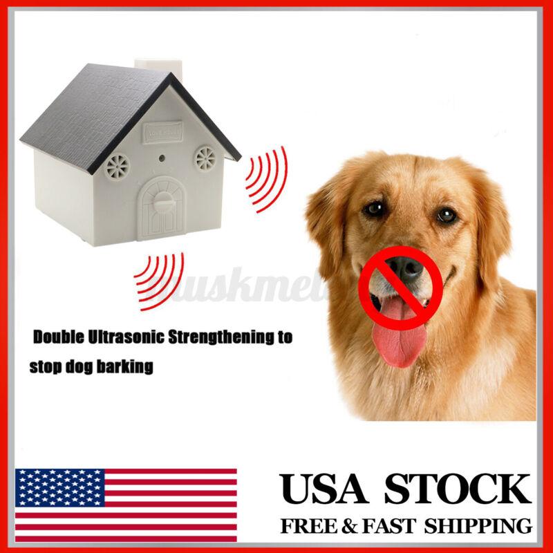 Pet Dog Outdoor Indoor Ultrasonic Anti Bark House Controller Silencer Stopper