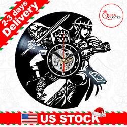 The Legend of Zelda Ocarina Time Vinyl Wall Clock Kids Boys Best Christmas Gifts