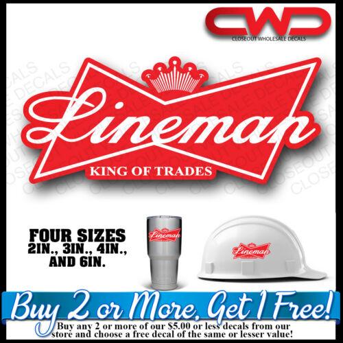 King of Linemen Hard hat Decal Sticker King of Trades  Phone 10337