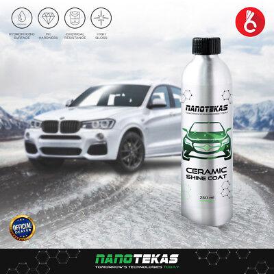 Nano Coating Car Body Paint Protection Ceramic Shine Coat Long Lasting 250 Ml