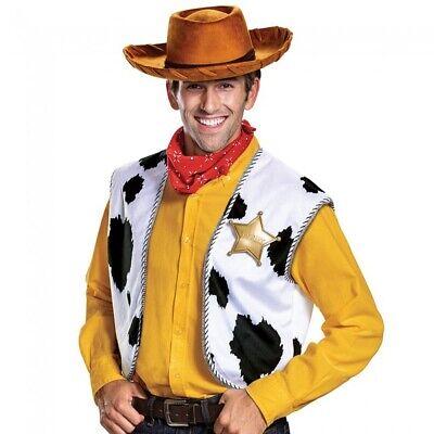 Woody Erwachsene Deluxe Kostüm Set Toy Story Film Hut Top Kopftuch Sheriff - Sheriff Woody Kostüm