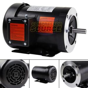 2 HP Electric Motor 3 Phase 56C Frame 3600 RPM TEFC 208 230 / 460 Volt New