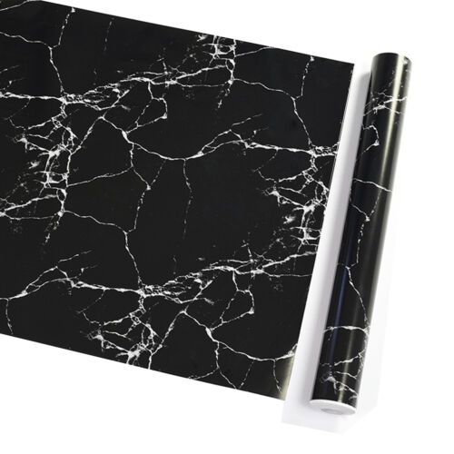 Marble Black Wallpaper Vinyl Countertop Self Adhesive Wall S