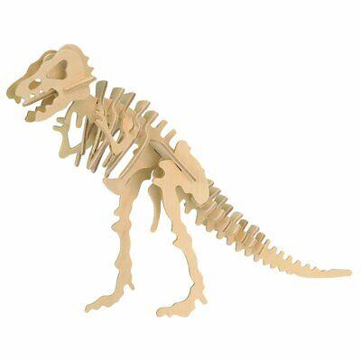 T-Rex Dinosaur Balsa Wood 3D Puzzle - Tyrannosaurus T Rex Model - New ()