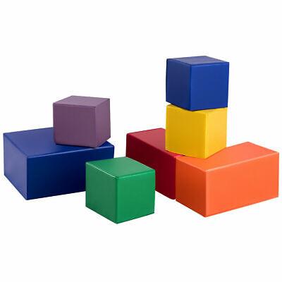 7-Piece Set PU Foam Big Building Blocks Colorful Soft Blocks Play Set For Kids