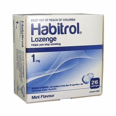 Habitrol Nicotine Lozenge 1mg MINT Flavor Lozenges 216 Pieces Sugar Free 1 Box