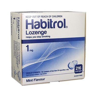 Habitrol Nicotine Lozenge 1mg MINT Flavor Lozenges 216 Pieces Sugar Free 1 Box