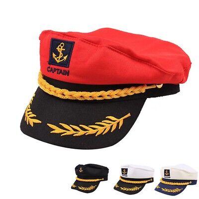 Kapitänsmütze Marine-Mütze Matrose Cap Käptn Seefahrer Hut Matrosenmütze Mütz (Matrose Hut)