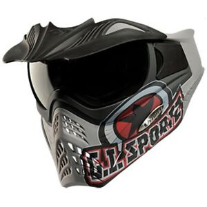V-FORCE Grill Paintball Mask / Goggle - SPECIAL EDITION - GI LOGO on CHARCOAL