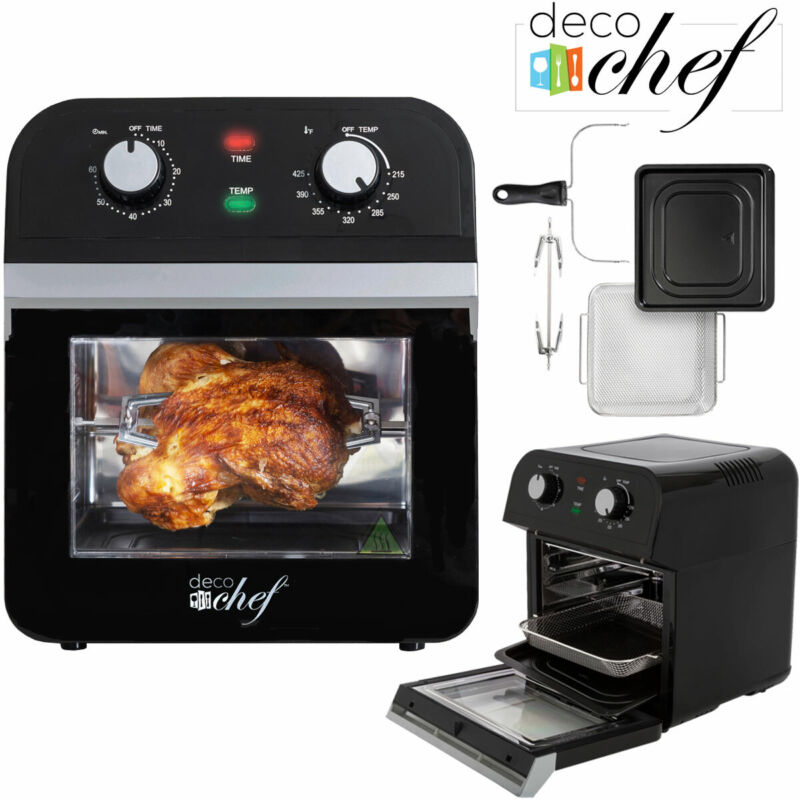 Deco Chef AirFryer XL12.7 QT Power Air Fryer Oven 7 in1 Cook Features Rotisserie