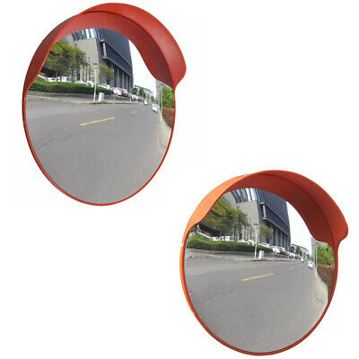 Safety Roadstreet Convex Traffic Wide Corner Mirror Pc Plastic 24 18outdoor